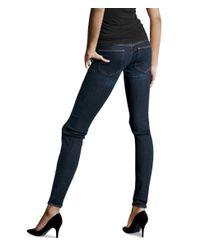 H&M - Blue Super Skinny Super Low Jeans - Lyst