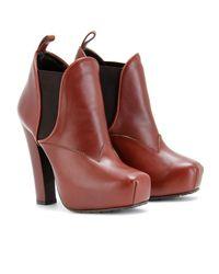 Proenza Schouler | Brown Platform Ankle Boots | Lyst