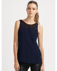 Sachin & Babi | Blue Leo Embroidered Top | Lyst