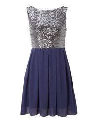 TFNC London | Blue Sarah Dress | Lyst