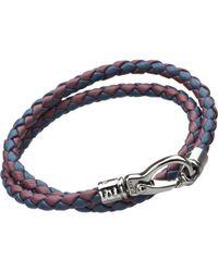 Tod's - Purple Large Leather Bracelet for Men - Lyst