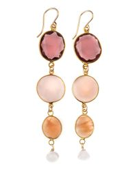 Devon Leigh | Yellow Quartz and Sunstone Earrings | Lyst