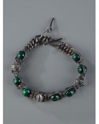 Emanuele Bicocchi - Black Beads and Chain Bracelet for Men - Lyst