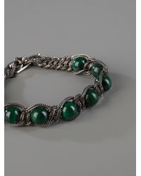 Emanuele Bicocchi - Metallic Beads and Chain Bracelet for Men - Lyst