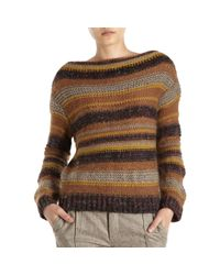 Giada Forte | Brown Striped Knit Sweater | Lyst