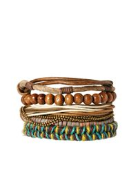 River Island | Natural Bracelet Pack for Men | Lyst