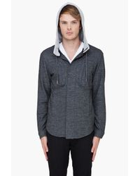 Adidas SLVR - Gray Wool Hoodie for Men - Lyst