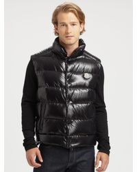 Moncler | Black Tib Gillet Down Vest for Men | Lyst