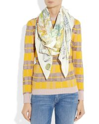 Swash London - Multicolor The Cinerous Forest Printed Silk Scarf - Lyst