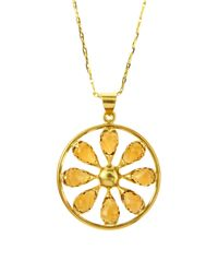 Elizabeth Showers | Metallic Quartz Pinwheel Necklace | Lyst