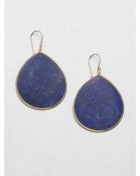 Ippolita | Blue Lapis & 18K Yellow Gold Teardrop Earrings | Lyst