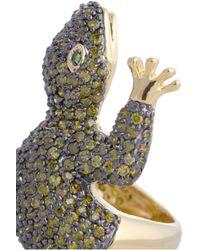 Kenneth Jay Lane   Blue Cubic Zirconia Gecko Ring   Lyst