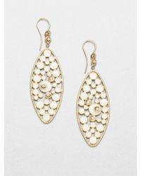 Roberto Coin | Metallic Enamel 18k Gold Drop Earrings | Lyst