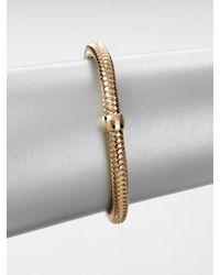 Roberto Coin | Metallic 18k Rose Gold Bangle Bracelet | Lyst
