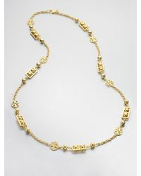 Tory Burch | Metallic Signature Necklace | Lyst