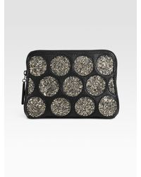 3.1 Phillip Lim - Gray 31 Second Crystal Coated Pouch - Lyst
