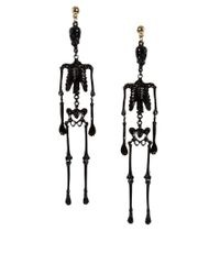 ASOS | Black Skeleton Earrings | Lyst