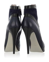Jason Wu | Blue Two Tone Leather and Suede Ankle Boots | Lyst
