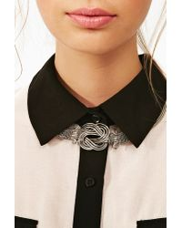 Nasty Gal - Metallic Infinity Collar Necklace - Lyst