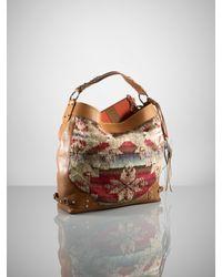 Ralph Lauren Collection - Brown Printed Blanket Hobo - Lyst