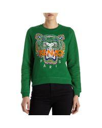 KENZO | Green Tiger Sweater | Lyst