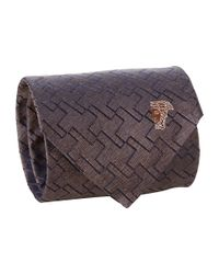 Versace   Brown Puzzling Perfection Tie for Men   Lyst
