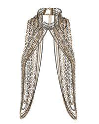 TOPSHOP | Metallic Maximum High Neck Necklace | Lyst