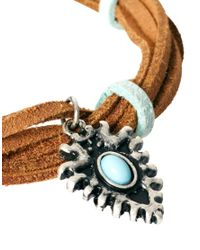 ASOS - Blue Thong Bracelet with Charm for Men - Lyst