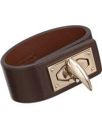 Givenchy | Black Shark Lock Leather Bracelet | Lyst