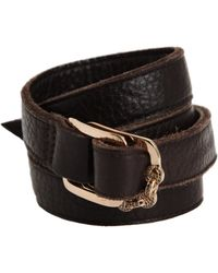 Hoorsenbuhs - Black Leather Strap Cuff Bracelet - Lyst