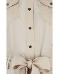 Karen Millen - Natural Soft Safari Dress - Lyst