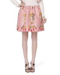 Oscar de la Renta | Pink Skirt | Lyst