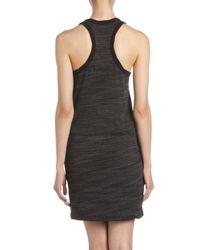 James Perse - Racerback Dress in Black - Lyst