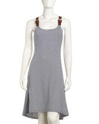MICHAEL Michael Kors | Gray Belt-strap Tank Dress | Lyst