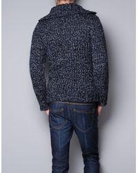 Zara | Blue Twist Knit Sweater for Men | Lyst