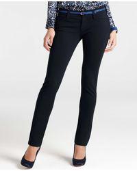 Ann Taylor - Gray Petite Modern Knit Slim Pants - Lyst