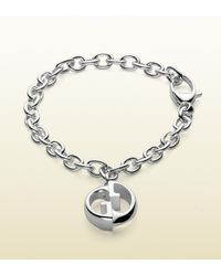 Gucci | Metallic Double G Bracelet for Men | Lyst