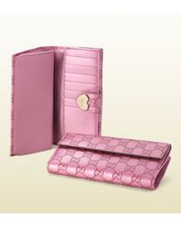 Gucci - Purple Heart Continental Wallet - Lyst
