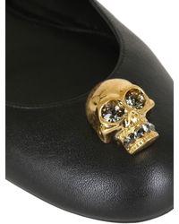 Alexander McQueen   Black Skull Ballet Pump   Lyst
