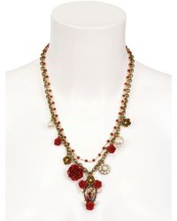 Dolce & Gabbana - Virgin Mary with Red Roses Necklace - Lyst
