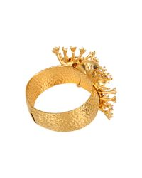 Alexander McQueen | Metallic Silver Atom Flower Skull Bracelet | Lyst