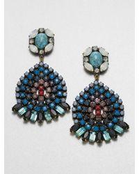 DANNIJO - Multicolored Swarovski Crystal Drop Earrings - Lyst