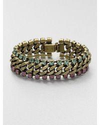 DANNIJO - Metallic Swarovski Crystal Link Chain Bracelet - Lyst