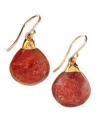Devon Leigh | Red Chalcedony Drop Earrings | Lyst