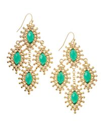 Kendra Scott | Green Febe Chandelier Earrings | Lyst