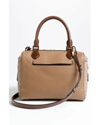 Michael Kors | Brown Gia Embossed Leather Satchel | Lyst