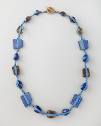 Stephen Dweck - Blue Knotted Long Multistone Necklace  - Lyst