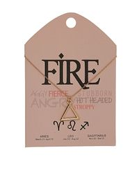 TOPSHOP | Metallic Fire Symbol Necklace | Lyst