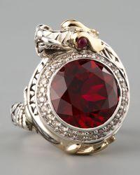 John Hardy - Metallic Ruby Dragon Ring Small - Lyst