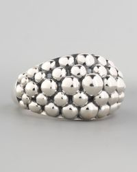 Lagos | Metallic Medium Sterling Silver Bold Caviar Ring | Lyst
